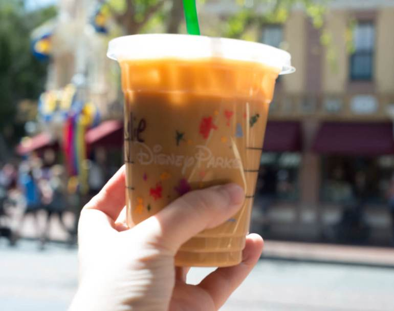 Starbucks Iced Coffee on Main Street at Disneyland | Where to Find Good Coffee at Disneyland