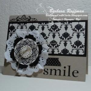 Black and Vanilla Modern Medley Card