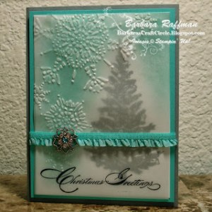 Special Season and Northern Flurry Embossed Vellum