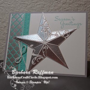 Christmas Star Card – Embossed and Folded