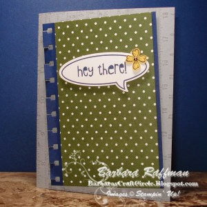 Notebook Card – Yay for the Spiral Border Punch