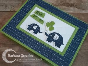 Little Elephant Baby Card