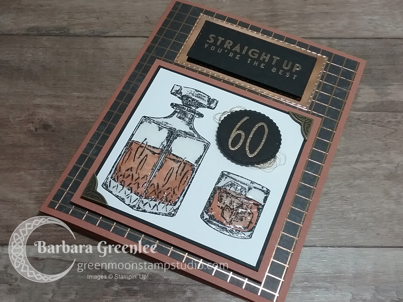 Masculine birthday card using Whiskey Business and World of Good Specialty Designer Series Paper.