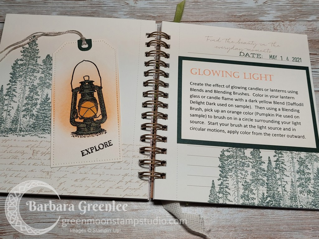 Campology Stampin Up masculine card with glowing light technique.