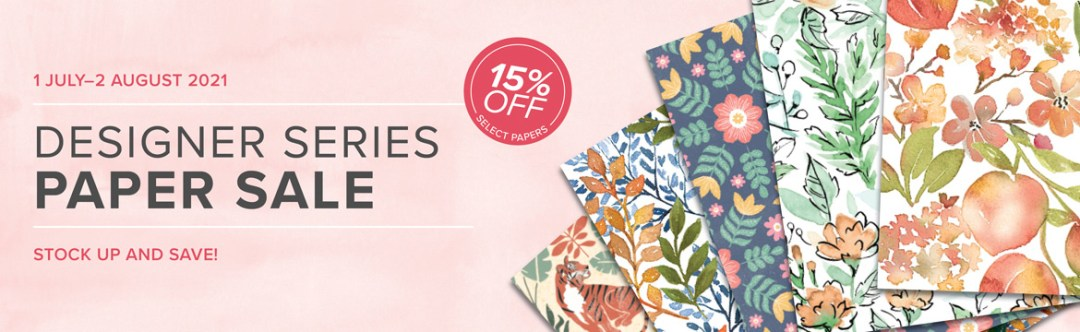 Stampin Up DSP sale 15% off