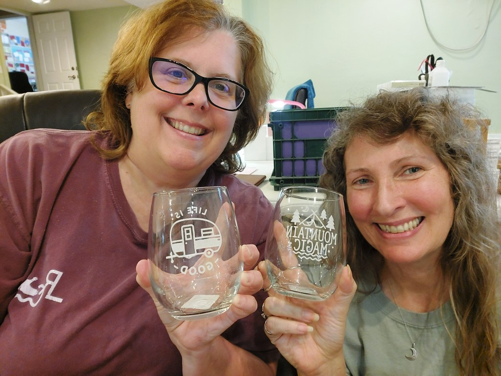 Glass Etching at Creative Cottage