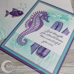 Seascape Card With Emboss Resist