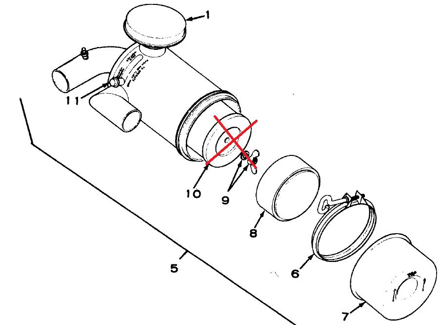 MEP002A-MEP003A Air Filter Assembly Donaldson FWG06-5128