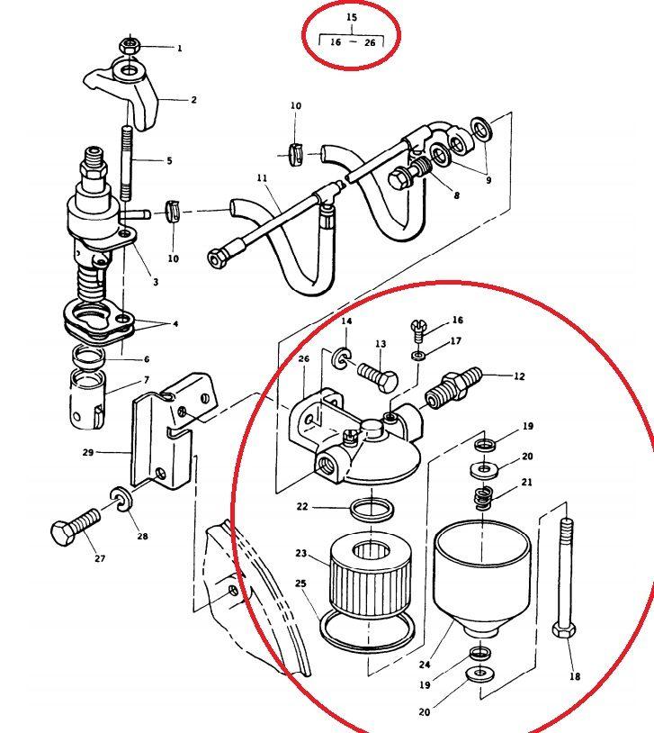 MEP802A-MEP803A-MEP812A-MEP813A Fuel Filter Housing Kit