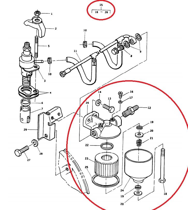 duramax fuel filter housing plunger