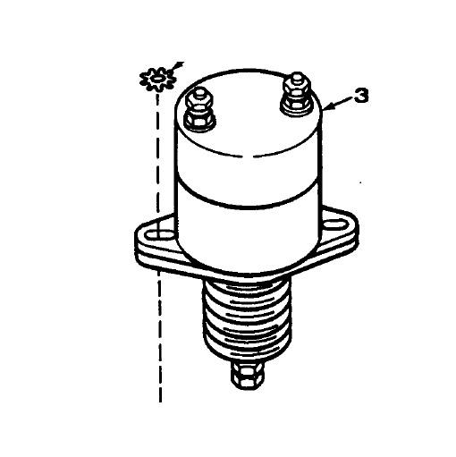 Onan 12v Fuel Stop/Shutoff Solenoid Onan 307-1564 ⋆ Green