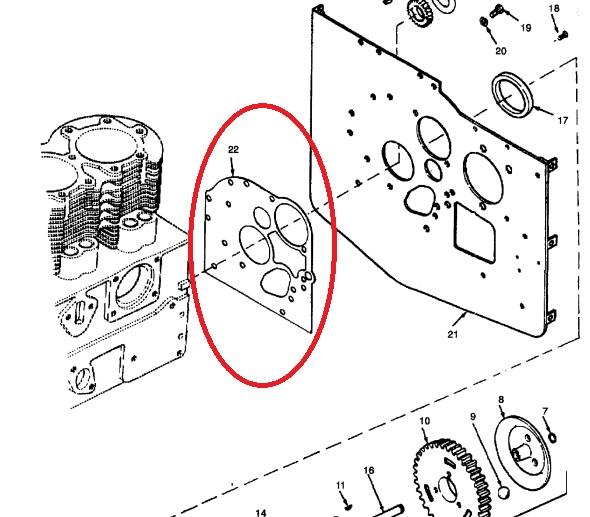 MEP002A-MEP003A-Onan Gearcase Mounting Plate Gasket 103