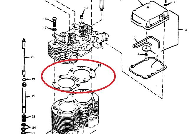 MEP002A-MEP003A-Onan Cylinder Head Gasket 110-1836 ⋆ Green