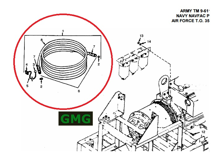 Universal Military Generator Auxiliary Fuel Line Kit