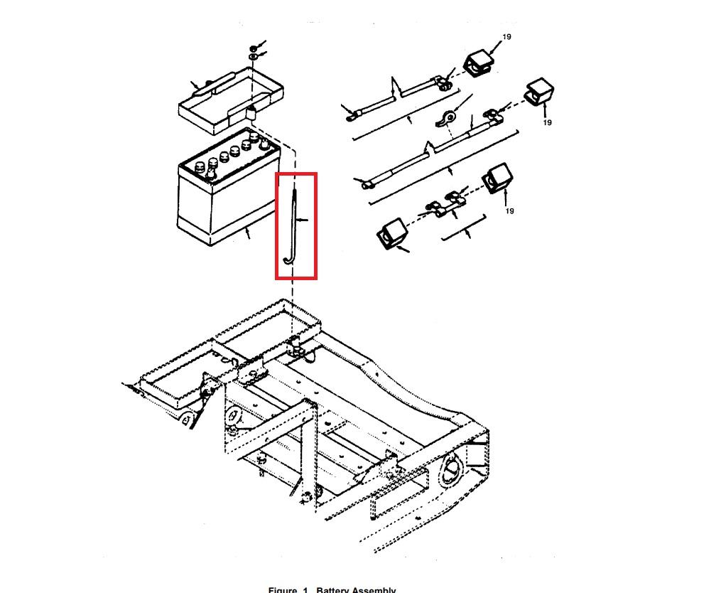 MEP002A-MEP003A Battery Frame Hook Bolt, J-Hook, Hold Down