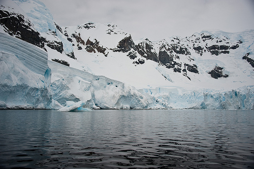 The glaciers, irrevocably melting