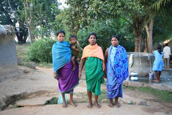 Paraja women in a Chhattisgarh village