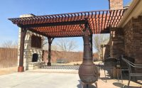 Pergola/Fireplace - Green Okie