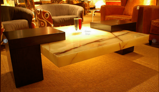 Green Onyx Coffee Table Supplier Manufacturer  Stone
