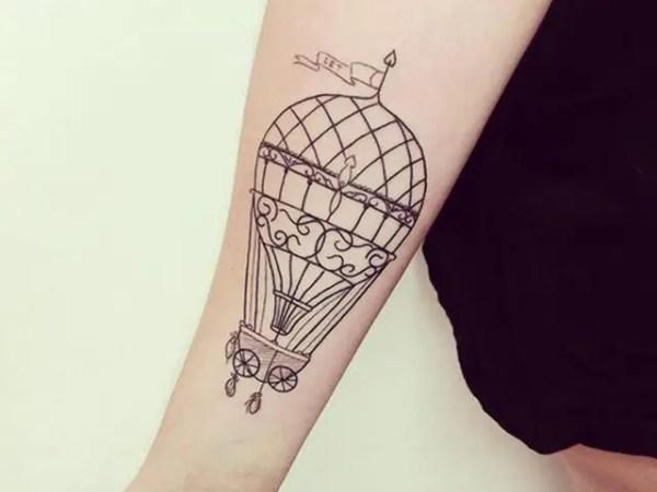 20 Tattoos Small Hot Air Baloon Ideas And Designs