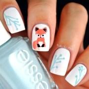 beautiful winter nail art design