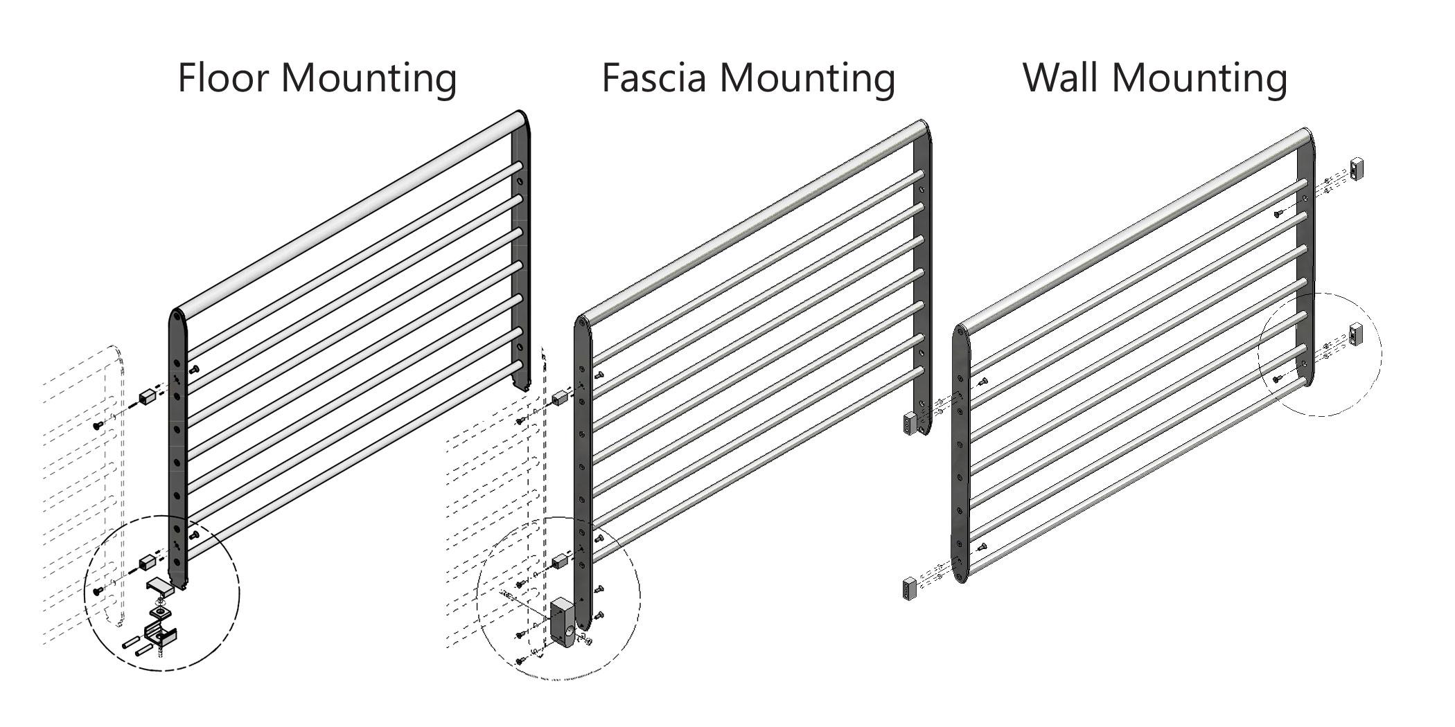 Epulum Mounting Modern Horizontal Railing