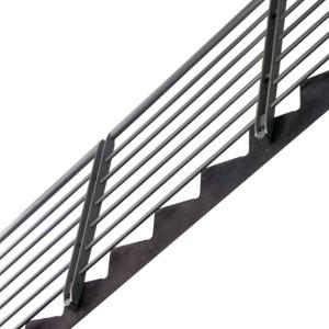 horizontal stair railing