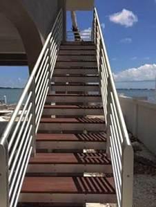 hurricane aluminum stair railing