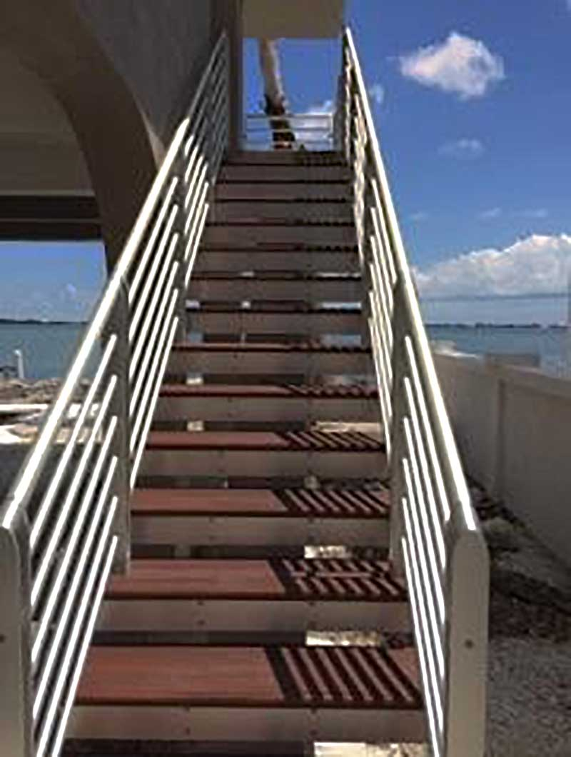 hurricane stair railing