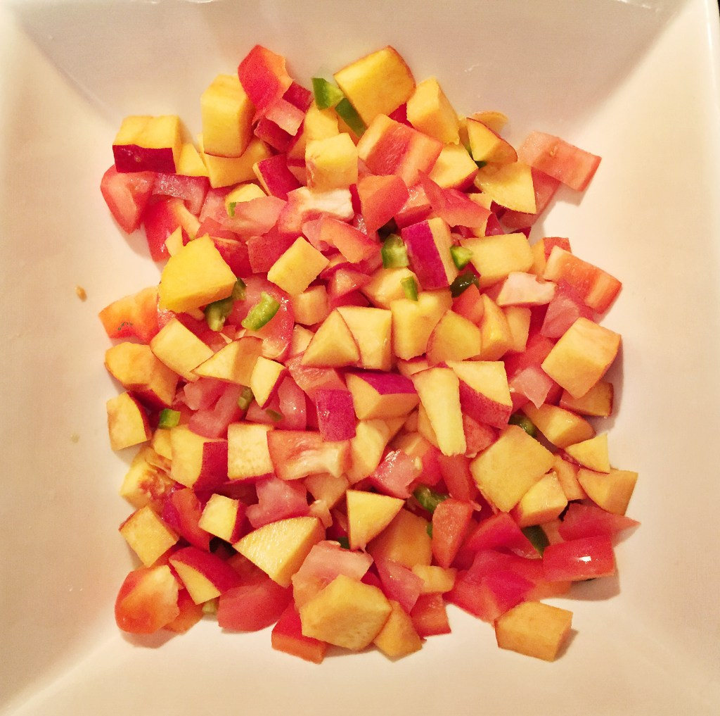 Homemade Balsamic Peach Salsa