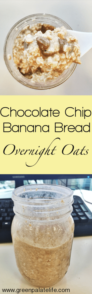 Chocolate Chip Banana Bread Overnight Oats