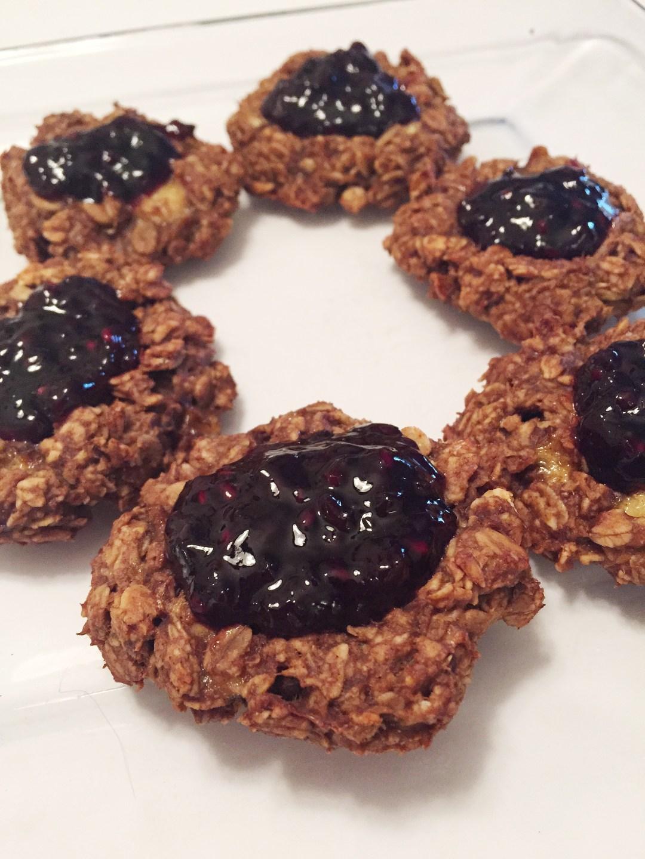 PB&J thumb print cookies