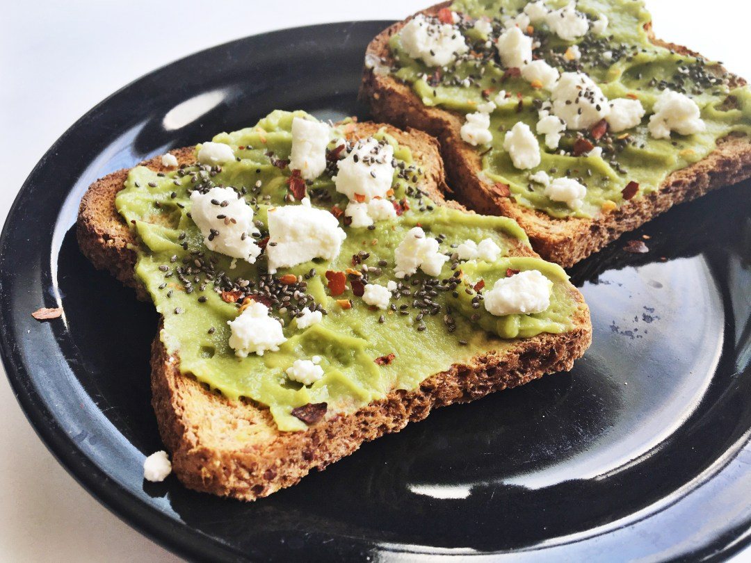 """Chia-Avacado-Goat-Cheese-Toast"""