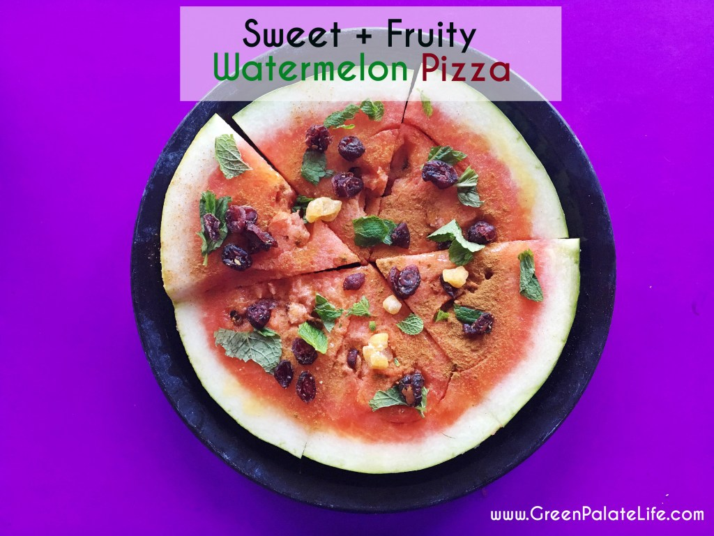 Sweet and fruity Watermelon Pizza