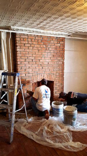 Fill Holes In Brick Fireplace