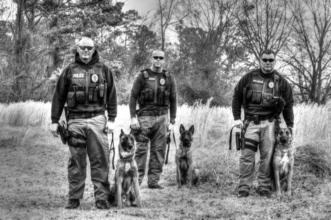 police K 9 Dogs and handlers