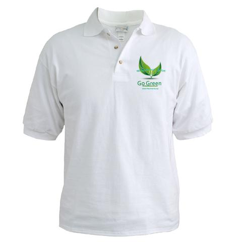 go green polo shirt