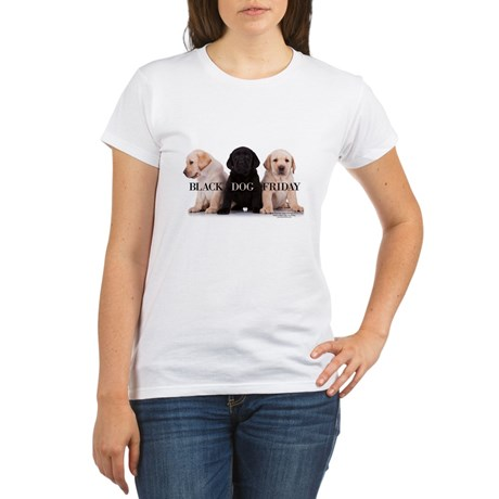 WOMAN'S T SHIRT  BLACK DOG FRIDAY