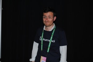 One of the founders of start-up Kurrenci.com