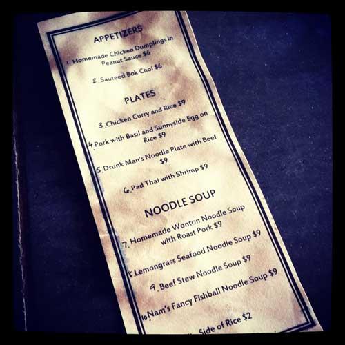 no name bar greenpoint menu