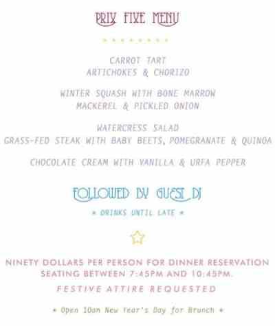 Glasserie_NYE_menu