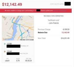 $16,000 uber ticket