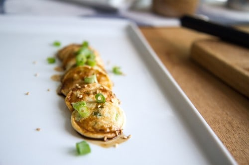 poffee dutch mini pancake scallion