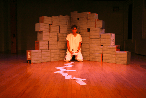 c/o Julia Steele Allen. Mariposa & the Saint: From Solitary Confinement, A Play Through Letters press photo.