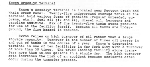 "The Brooklyn Terminal on Newtwon Creek was a major source of contamination: ""Hazardous Neighbors""  by Hunter College"