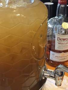 Specialty Habanero-infused scotch and cinnamon cider