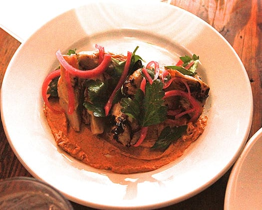 Grilled Chayote & Artichoke