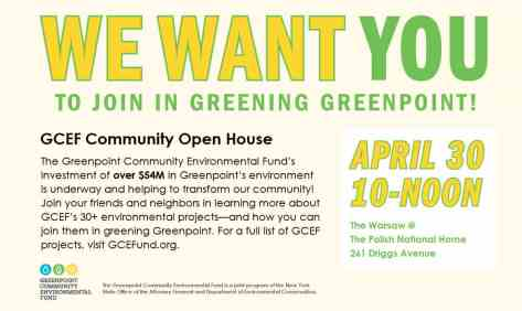 Join GCEF in Greening Greenpoint