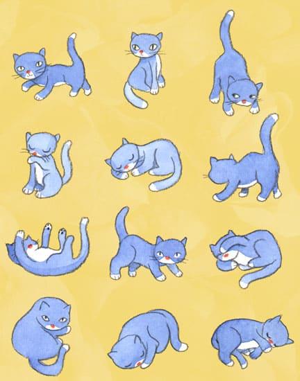 """John & Wendy, """"Blue Kitties"""""""