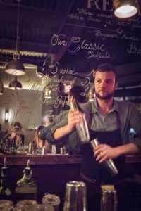 Bartender Adam Lipiec at The Regal.